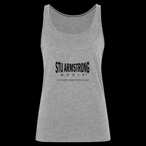 Stu Armstrong Media Black Logo - Women's Premium Tank Top