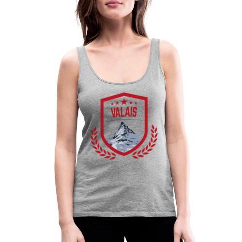 Walliser Logo mit dem Matterhorn - Frauen Premium Tank Top
