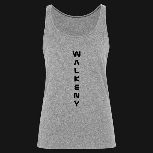 Walkeny Schriftzug vertikal in schwarz - Frauen Premium Tank Top