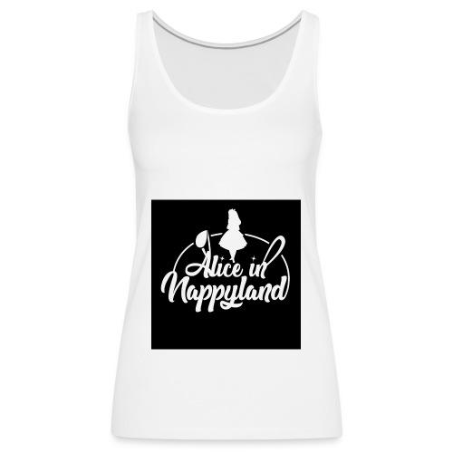 Alice in Nappyland TypographyWhite 1080 - Women's Premium Tank Top