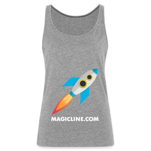 Rocket Magicline com Typo weiss DIN A3 - Frauen Premium Tank Top