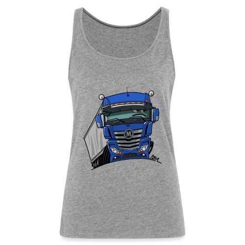 0807 M truck blauw trailer - Vrouwen Premium tank top