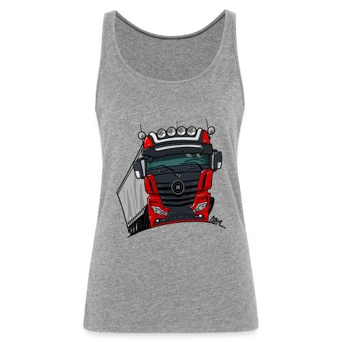 0807 M truck zwart rood - Vrouwen Premium tank top