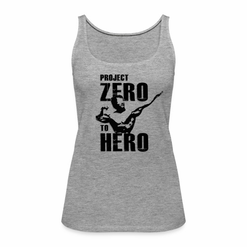 Zero to Hero LOGO png - Frauen Premium Tank Top