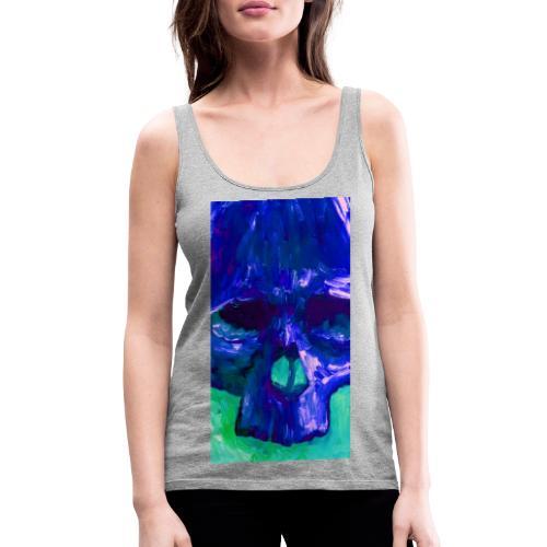 Blue Skull - Vrouwen Premium tank top