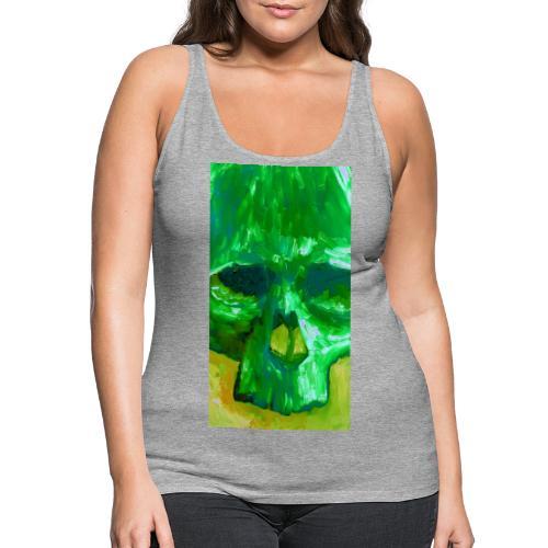 Green Skull - Vrouwen Premium tank top