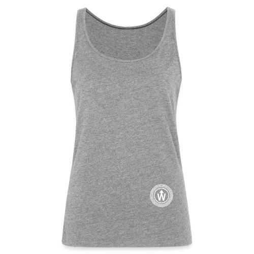 wit logo transparante achtergrond - Vrouwen Premium tank top