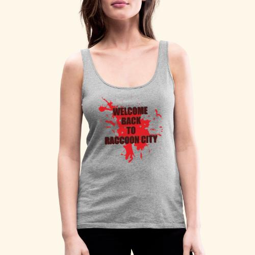 Welcome Back to Raccoon City TEXT 01 - Women's Premium Tank Top