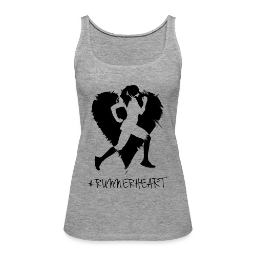 #Runnerheart girl - Frauen Premium Tank Top