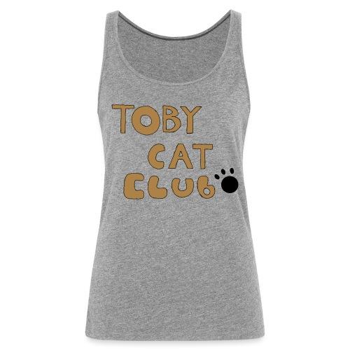 Toby Cat Club Rough Sketch - Women's Premium Tank Top