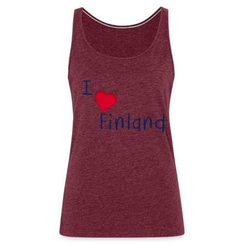 I Love Finland - Naisten premium hihaton toppi