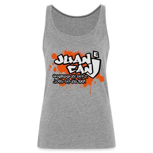 Juan can logo for spreadshirt Orange - Women's Premium Tank Top