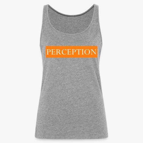 PERCEPTION CLOTHES ORANGE ET BLANC - Débardeur Premium Femme
