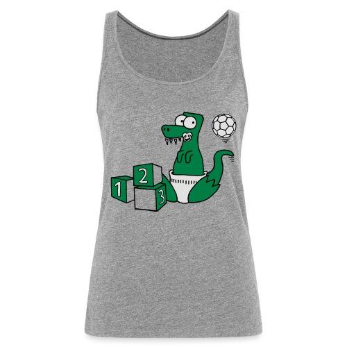 Baby T-Rex Dino mit Ball und Würfel - Frauen Premium Tank Top