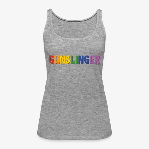 Gunslinger Pride (Rainbow) - Women's Premium Tank Top