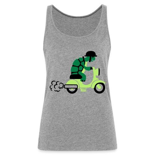 Schildkröte Moped - colored - Frauen Premium Tank Top