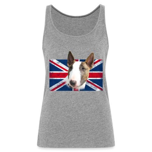 Bullterrier UK grunge Flag - Frauen Premium Tank Top