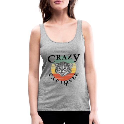 Crazy cat lover - Vrouwen Premium tank top