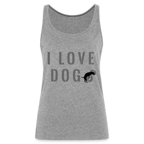I love dog - Canotta premium da donna