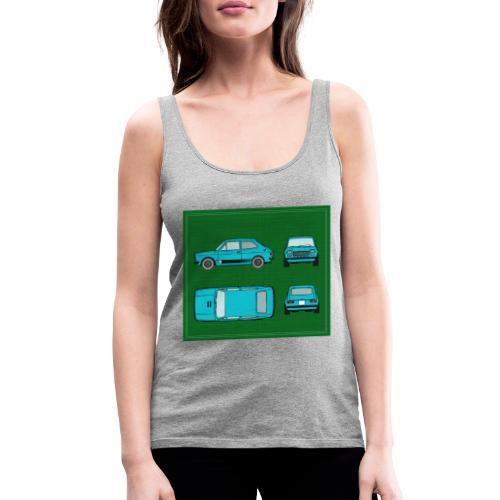 127 azul - Camiseta de tirantes premium mujer
