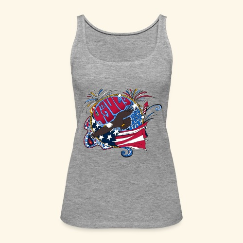 4jul - Camiseta de tirantes premium mujer