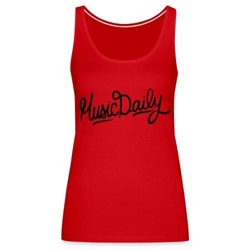 MusicDaily Logo - Vrouwen Premium tank top