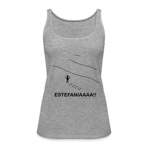 Estefania - Camiseta de tirantes premium mujer