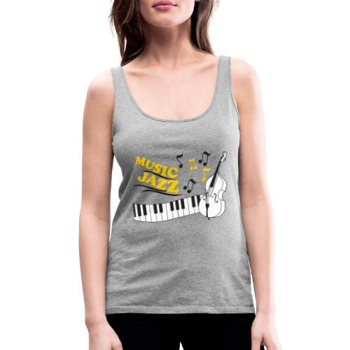music jazz con piano e contrabbasso - Canotta premium da donna