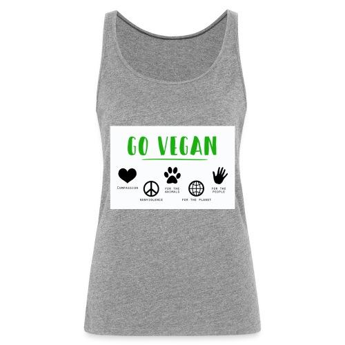 Go vegan - Débardeur Premium Femme