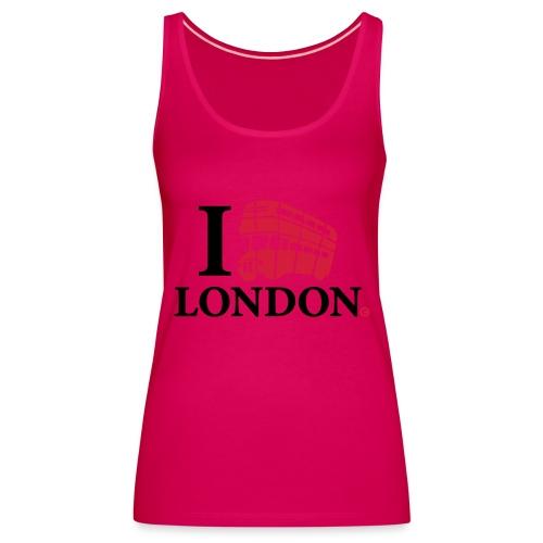 I love (Double-decker bus) London - Women's Premium Tank Top