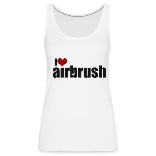 I Love airbrush - Frauen Premium Tank Top