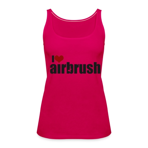 I Love airbrush - Frauen Premium Tank Top
