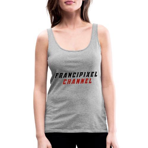 Francipixel CHANNEL - BLACK/RED - Canotta premium da donna