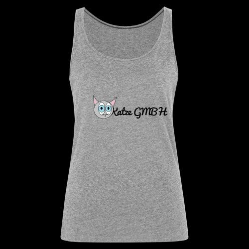 Katze GMBH Logo mit Schriftzug (Schwarz auf weiss) - Frauen Premium Tank Top