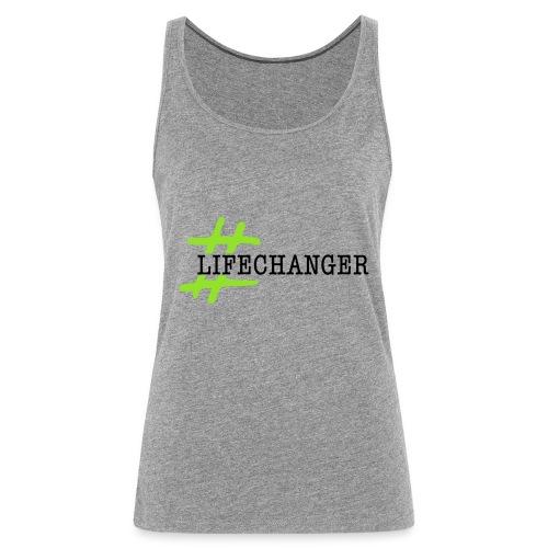 LOGO LIFE CHANGERS NERO - Canotta premium da donna