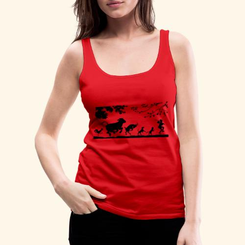 animales caminando - Camiseta de tirantes premium mujer