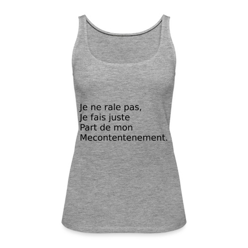 Mecontent - Débardeur Premium Femme
