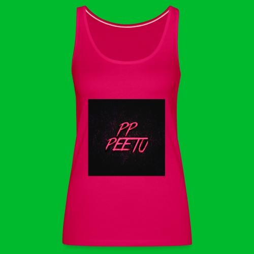 Ppppeetu logo - Naisten premium hihaton toppi