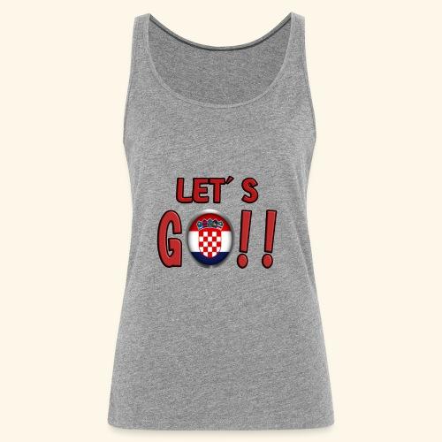 Go Croatia - Canotta premium da donna