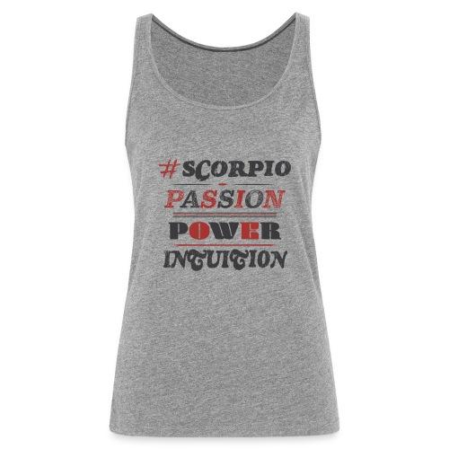 Scorpio Red%Black - Canotta premium da donna