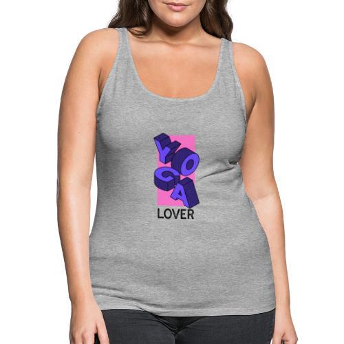 YOGA LOVER BLUE - Camiseta de tirantes premium mujer