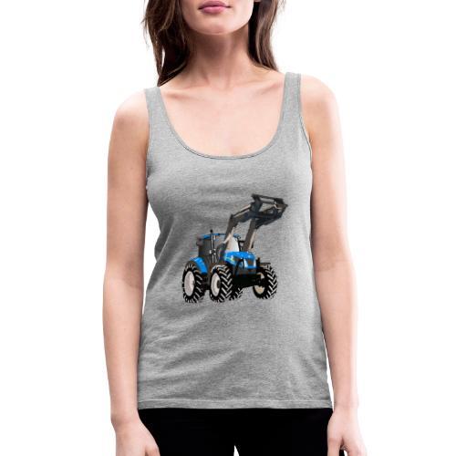 Blauer Traktor mit Frontlader - Frauen Premium Tank Top