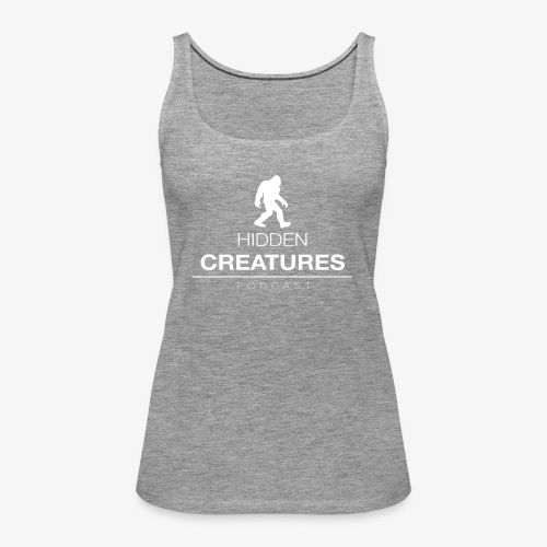 Hidden Creatures Logo White - Women's Premium Tank Top