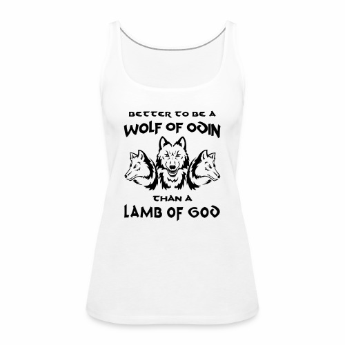 Wolf of Odin - Camiseta de tirantes premium mujer