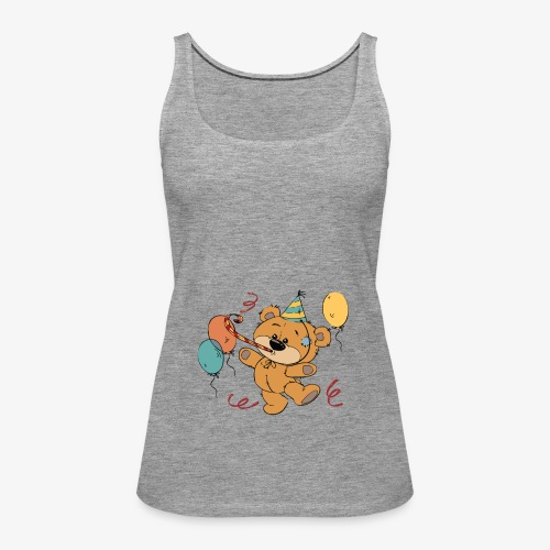 Little teddy bear at the party - Women's Premium Tank Top