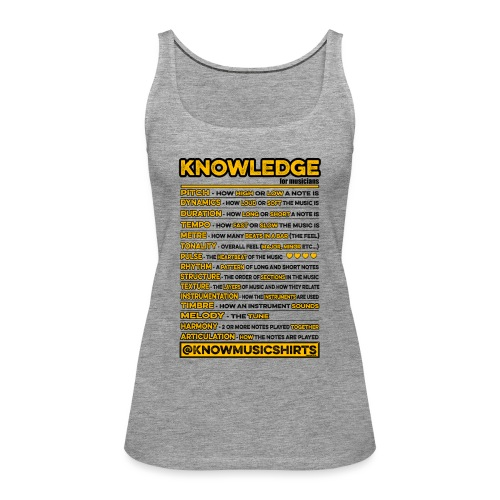 Knowledge (for musicians) - Women's Premium Tank Top
