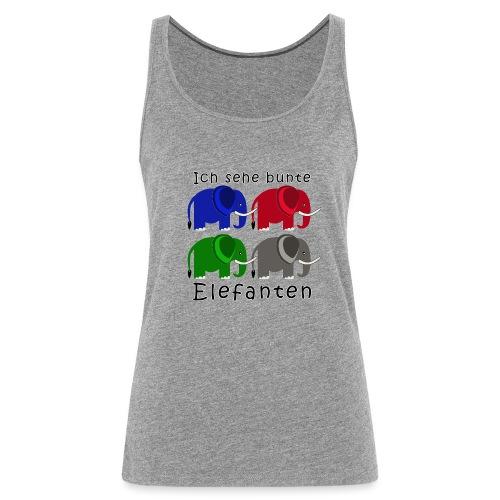 Vier Elefanten (Grafik) - Frauen Premium Tank Top