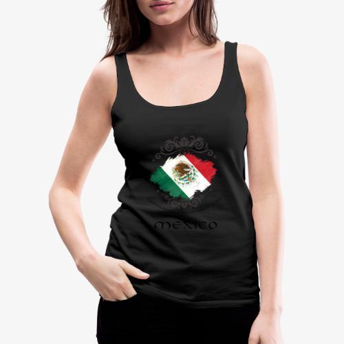 Mexico Vintage Bandera - Frauen Premium Tank Top