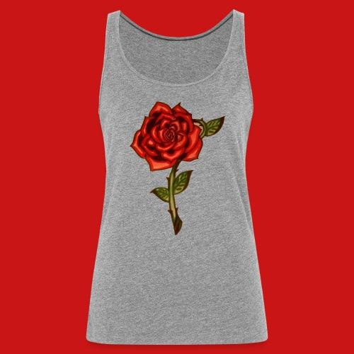 Red Rose - Canotta premium da donna
