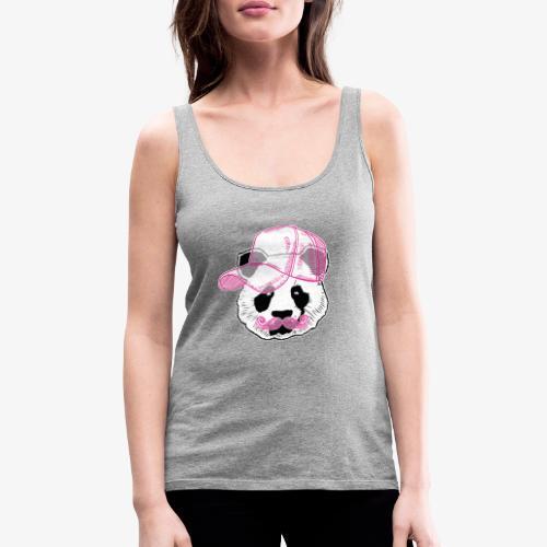 Panda - Pink - Cap - Mustache - Frauen Premium Tank Top
